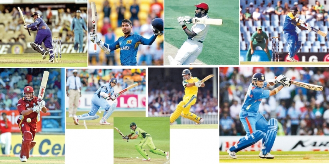 Cricketers from all over the world show their best peformance in ODI.